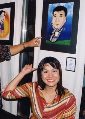 Jojie in 2nd caricature exhibit on Sept. 2004
