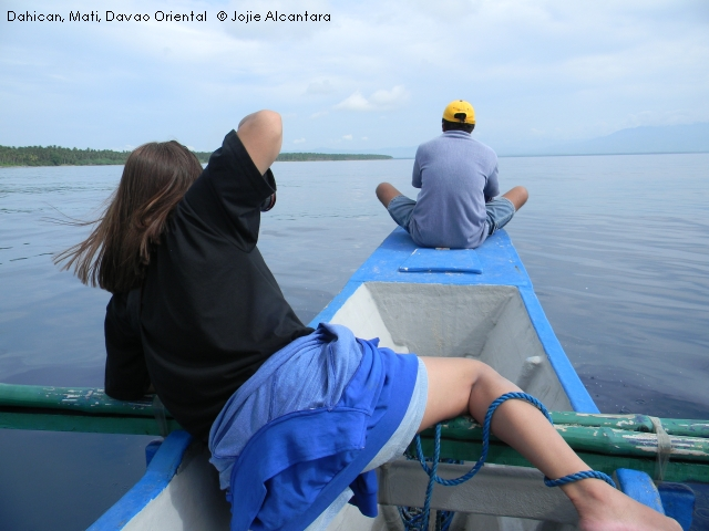 writer and photographer Jojie Alcantara documenting a pod in Dahican waters
