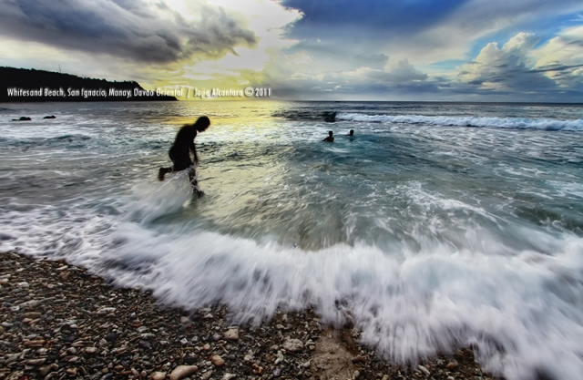 Sunrise at Whitesand Beach, San Ignacio, Manay, Davao Oriental by Jojie Alcantara