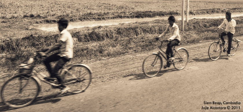 Ricefield countryside in Siem Reap, Cambodia by Jojie Alcantara