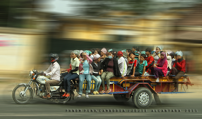 Transportation seen in Phnom Penh, Cambodia by Jojie Alcantara