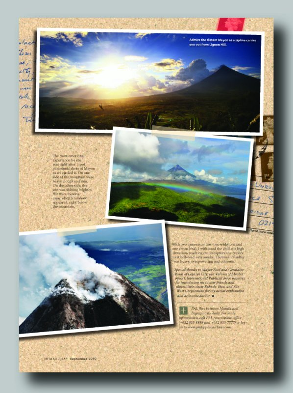 Published photos of Mount Mayon from a chopper © Jojie Alcantara