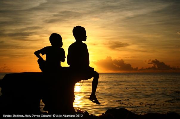 Sunrise in Dahican Mati Davao Oriental  by Jojie Alcantara
