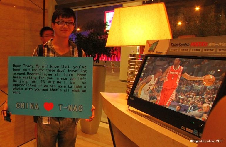 Fan boy's message