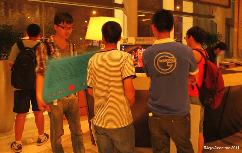 fan boys waiting at the lobby