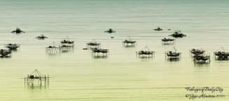 Fishcages of Bislig City by Jojie Alcantara