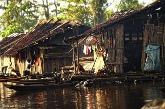 Lake Mihaba Floating Community in Bunawan, Agusan Marsh