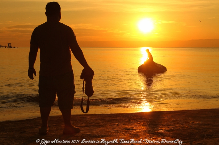 Biboy and his own piece of sunrise