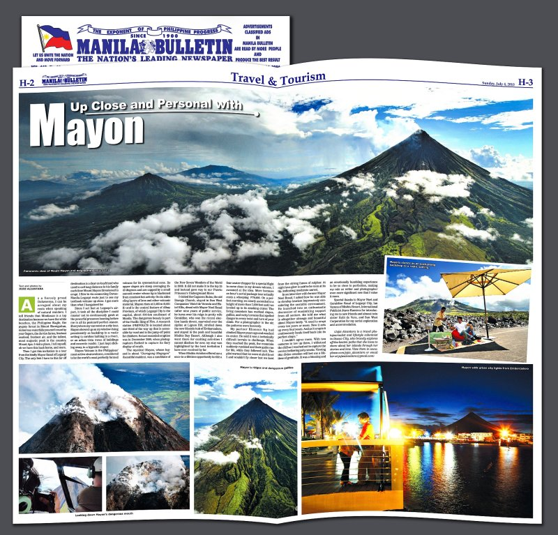 Published article of Mayon © Jojie Alcantara
