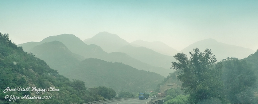 En route to the Great Wall of China