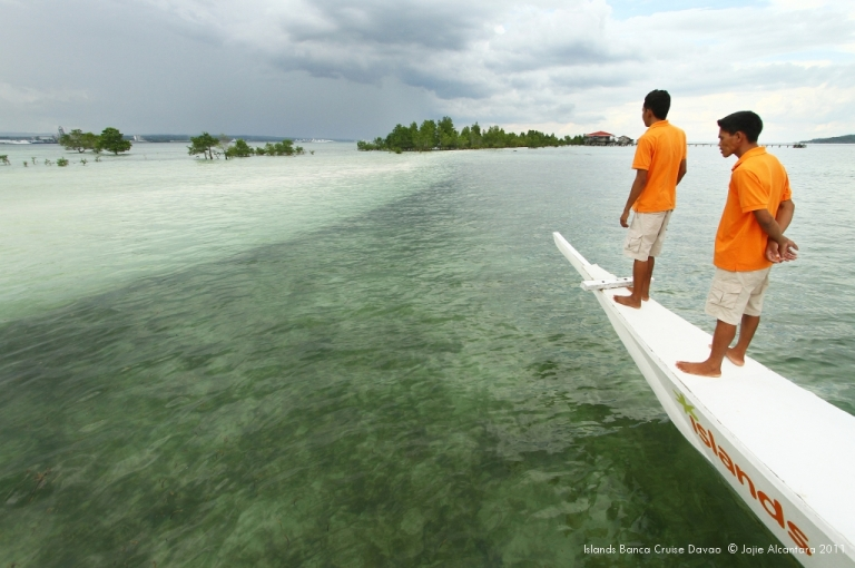 Vanishing Island in front of Samal Island City