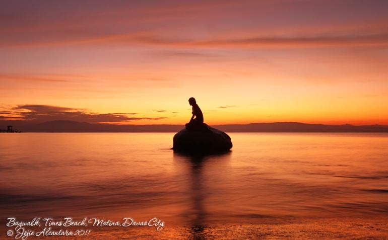 Little Mermaid replica in Baywalk, Times Beach