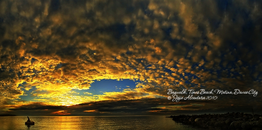 Sunrise in Times Beach, Matina by Jojie Alcantara