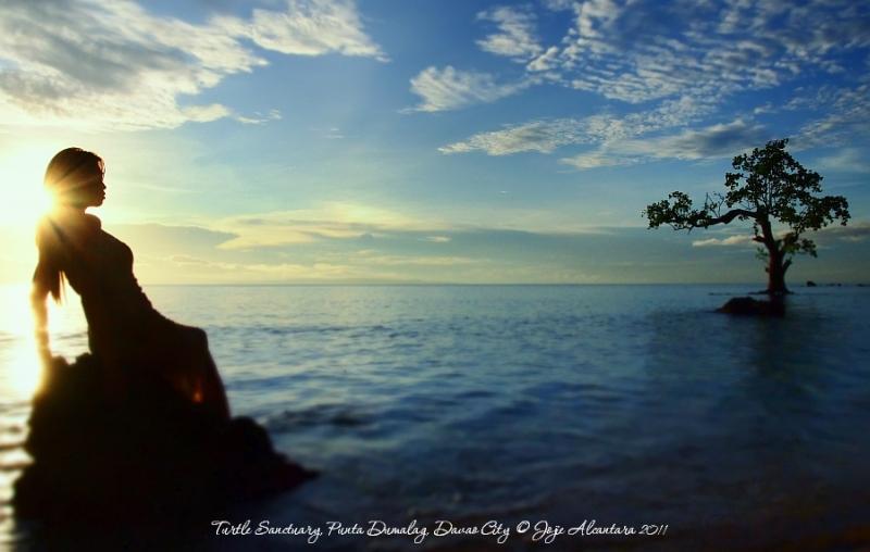Sunrise in Turtle Sanctuary, Punta Dumalag