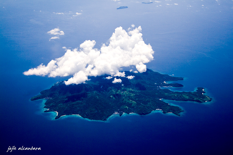 Mystery island captured in 2007 from plane © Jojie Alcantara