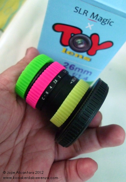 Size of toy lens © Jojie Alcantara
