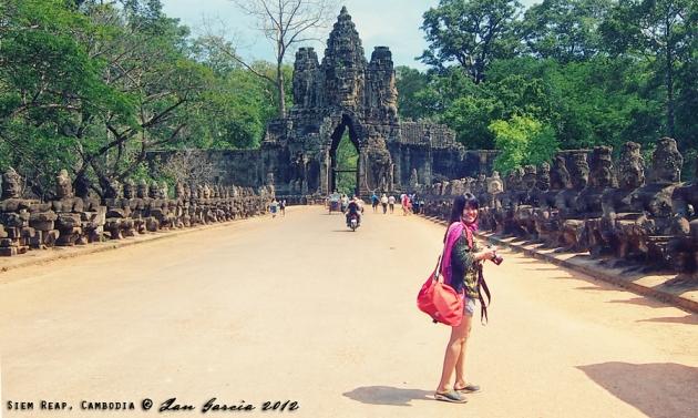Jojie Alcantara in Siem Reap, Cambodia by Ian Garcia