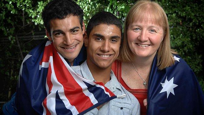 Ahmed, Emmanuel and Mom Moira