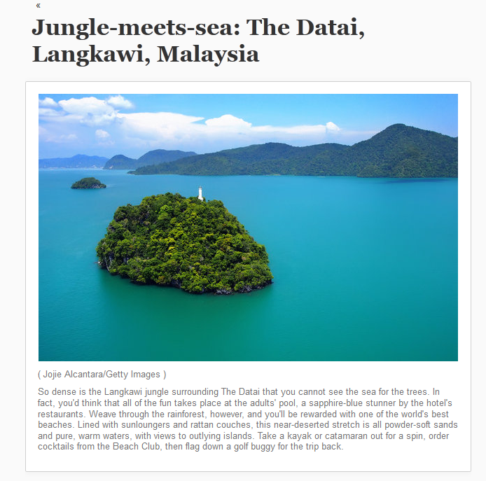 Featured in LA Times and Chicago Tribune Langkawi Malaysia_by Jojie Alcantara for Getty