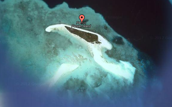 Satellite view of Panam Pangan Isle on Google map