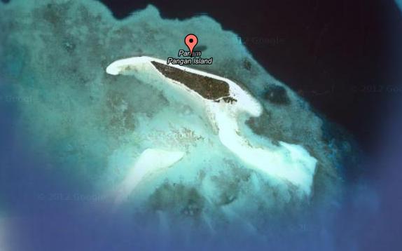 Satellite view of Panam Pangan Isle on Google map