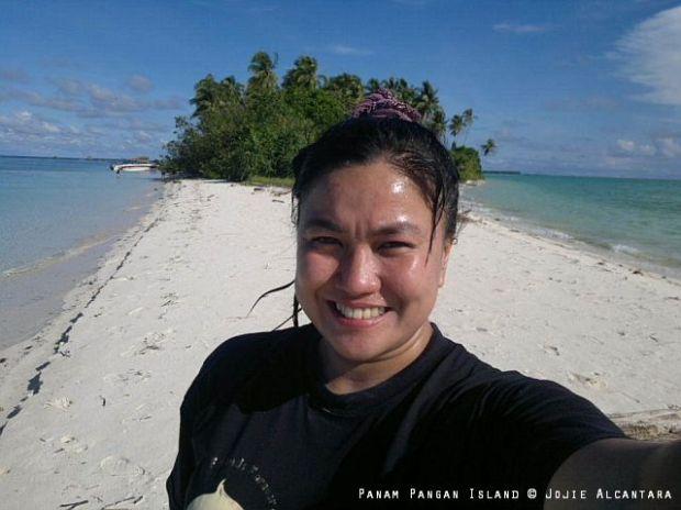 Jojie Alcantara from a cellphone in Panam Pangan Island, Tawi Tawi