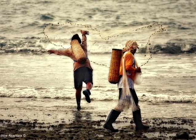 Fisher's catch by Jojie Alcantara