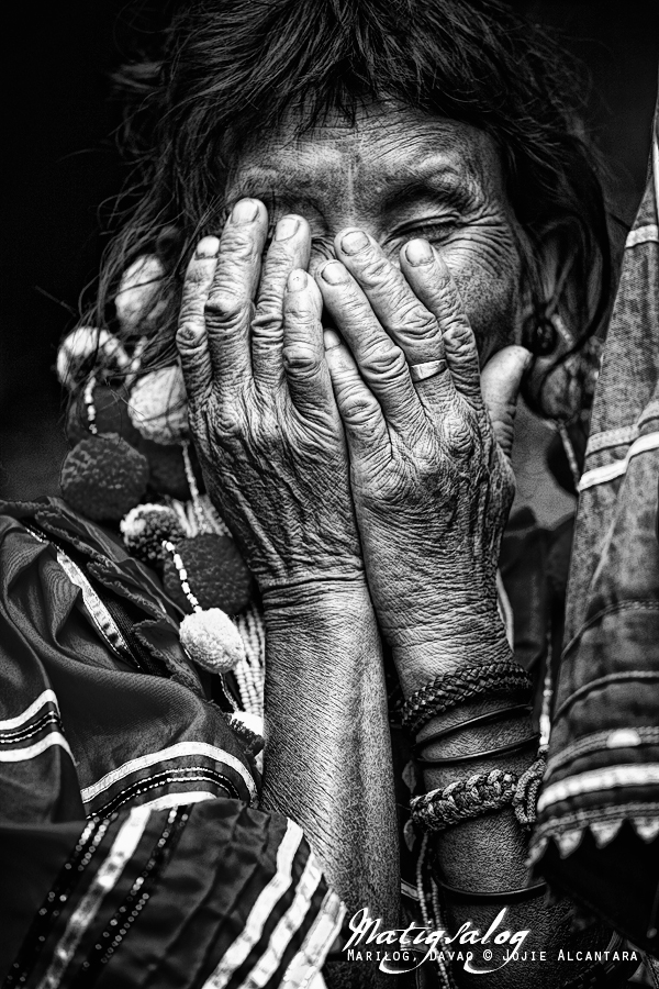 Shy Matigsalug woman by Jojie Alcantara