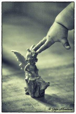 Angel within reach by Jojie Alcantara