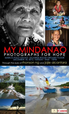 Mindanao photo exhibit poster by Rhonson Ng and Jojie Alcantara