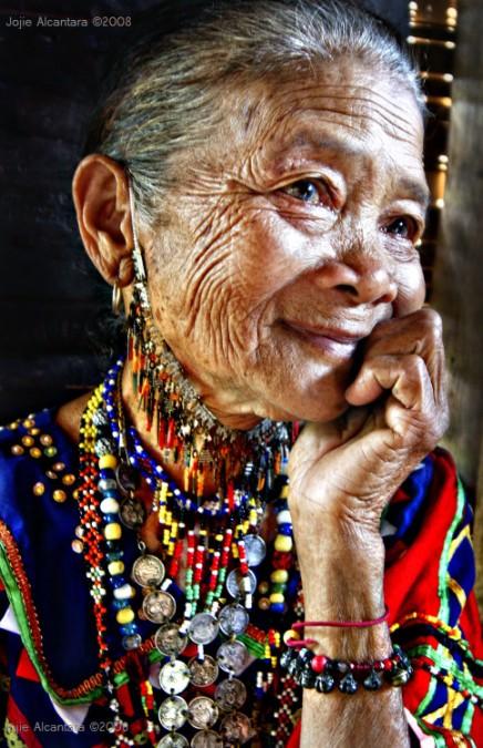 Old bagobo woman by Jojie Alcantara