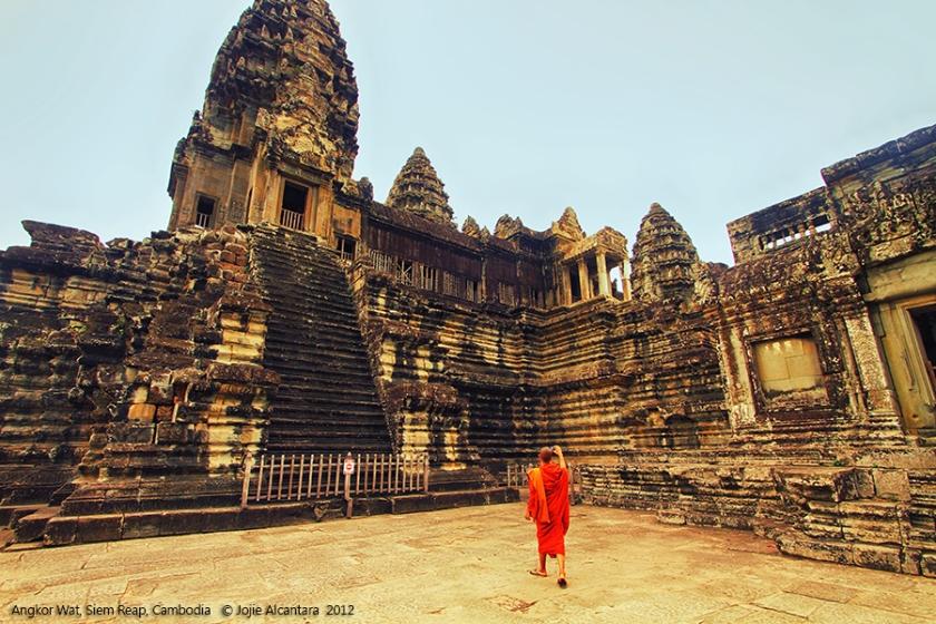 Monk in Angkor Wat Temple, Siem Reap, Cambodia © Jojie Alcantara
