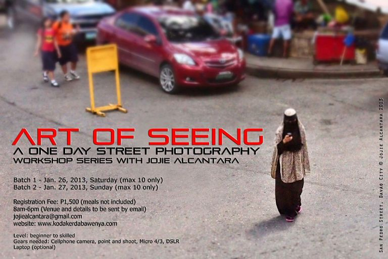 A one day street photography workshop series with Jojie Alcantara