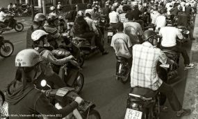 Normal traffic in Saigon