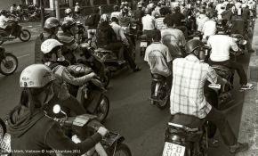 Normal traffic in Saigon