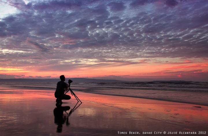 Sunrise in Times Beach by Jojie Alcantara