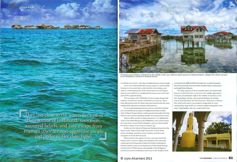 Tawi Tawi in 7107 Island Travel Magazine by Jojie Alcantara