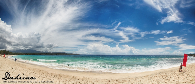 Dahican beach panorama by Jojie Alcantara