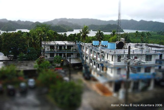 View of Palau islands from hotel window © Jojie Alcantara