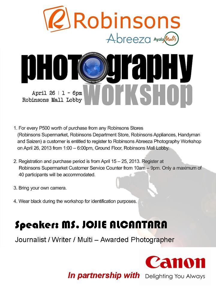 jojie alcantara photography workshop