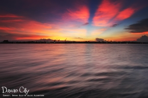 Sunset in Davao from Samal by Jojie Alcantara