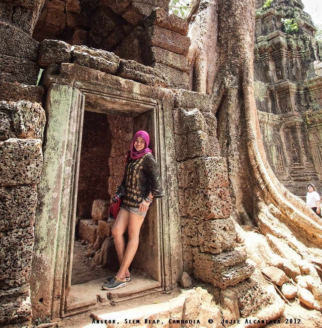 Jojie Alcantara in Ta Phrom, Siem Reap, Cambodia