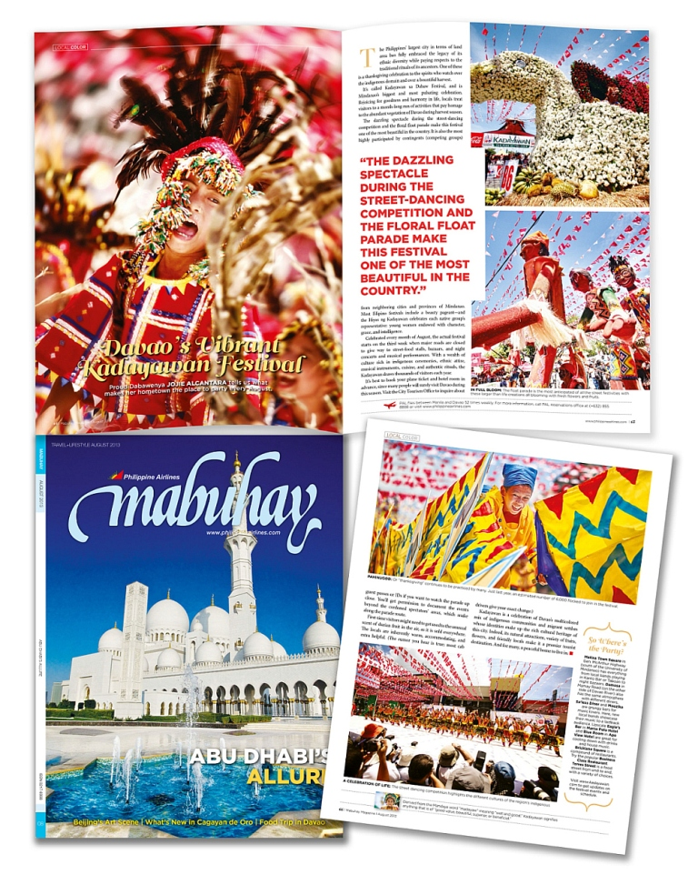 Mabuhay Magazine | August 2013 Kadayawan Feature by Jojie Alcantara