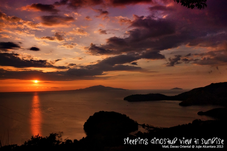 Sunrise and the Sleeping Dinosaur © Jojie Alcantara 2013