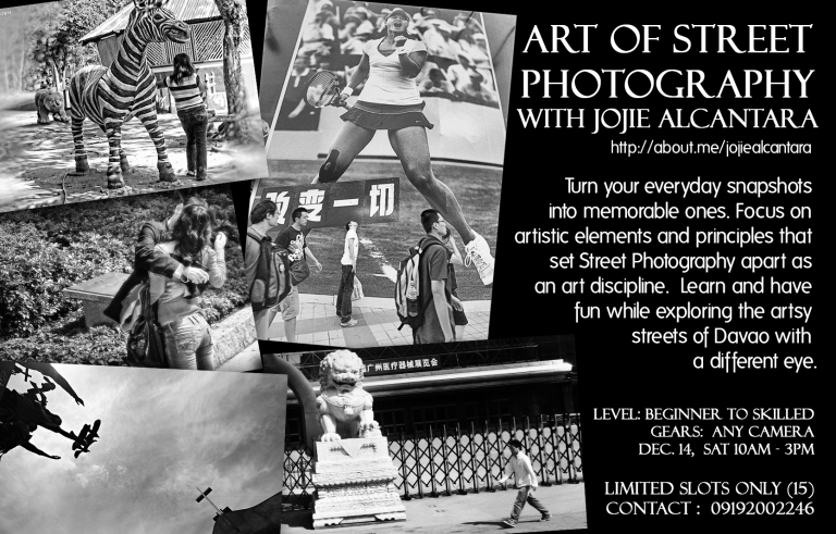 street photography poster of Jojie Alcantara