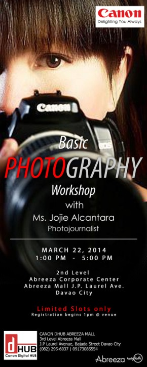 BASIC PHOTOGRAPHY WORKSHOP abreeza mall davao lores