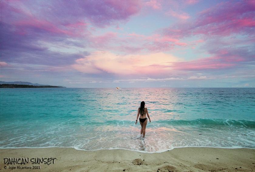 Pink glow of sunset in Dahican by Jojie Alcantara