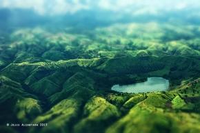 Heart shape lake by Jojie Alcantara