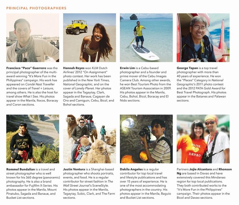 Principal Photographers of the book