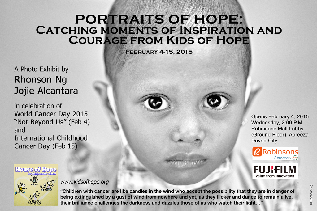 Portraits of Hope photo exhibit invitation